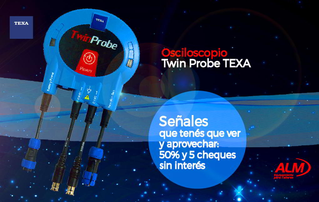 OSCILOSCOPIO TEXA TWIN PROBE
